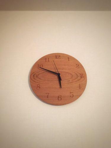 三谷龍二さんの山桜の時計