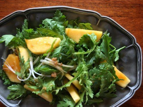 関西では春菊のコトを菊菜と言います
