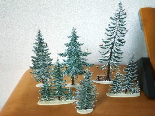 シュヴァイツァー工房の冬のもみの木