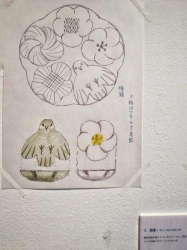 お干菓子の原案のイラスト