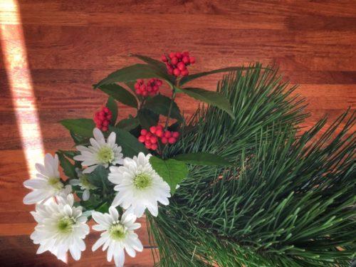 今年のお正月のお花