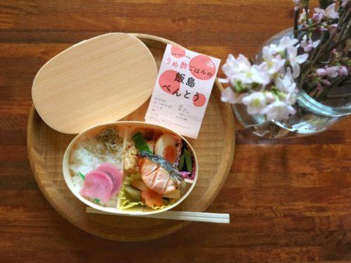 今日買った飯島奈美さんのお弁当とサクラのお花