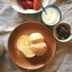 玄米パンと小豆ジャム