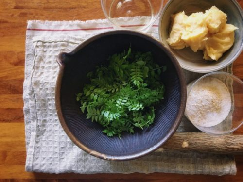山椒の葉っぱで作った木の芽味噌
