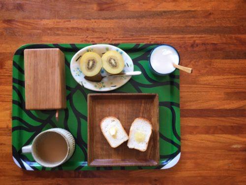 今朝はお友達お手製のカワイイパンを頂く
