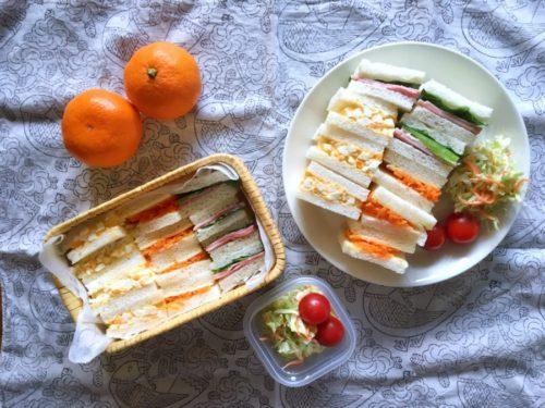 今日はサンドイッチ弁当
