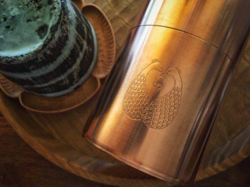 開化堂さんの茶筒にミナさんのカワイイ絵