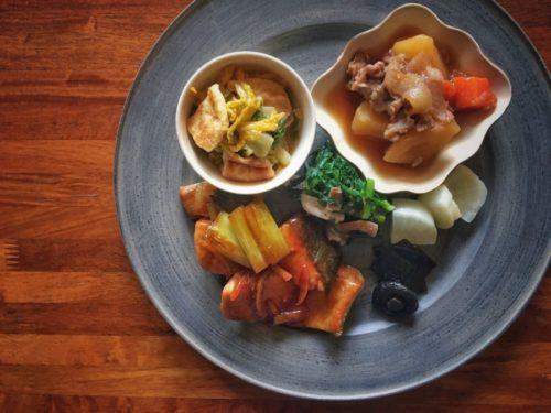秋鮭の柚子照り焼きと白菜と揚げさん
