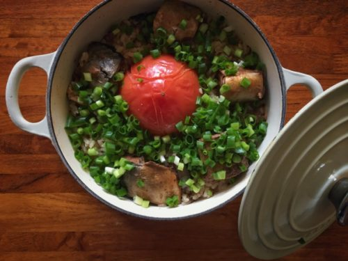 鯖缶の炊き込みご飯