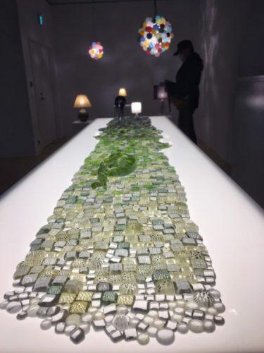 銀座ポーラアネックスにて ガラス作家のイイノナホ展