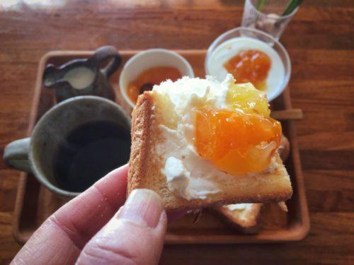 クリームチーズと金柑ジャムはサイコー!の組み合わせ