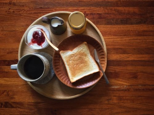 ゆっくり朝食が食べられる日曜日はイイ