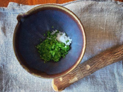 今年初めて柚子胡椒を作った