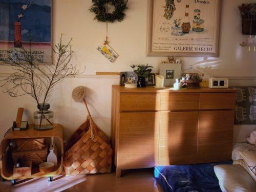 父の部屋から我が家にやってきた収納家具